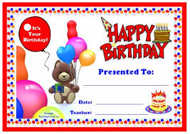 birthday certificate templates baloons