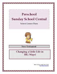 preschool sunday school lessons for children