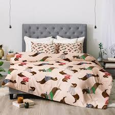 Dog Duvet Covers Pimlada Phuapradit Dog Pattern Dachshund Comforter Deny Designs