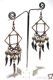 Wire Chandelier Earrings 1 Smoky Gray And Honey Amber Yellow Chandelier By Cookonstrike