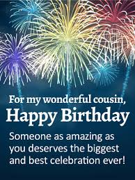 you are amazing happy birthday wishes card for cousin birthday