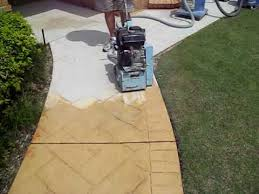 How To Remove Spray Paint From Concrete Patio How To Remove Stamped Or Patterned Concrete To Prepare For A New