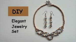 necklace making set images Diy beaded necklace and earring set easy jewelry making jpg