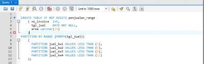 membuat query tabel query sql terasa lama implementasikan partisi pada tabel anda