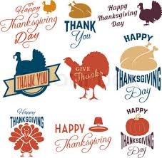 thanksgiving day greetings with traditional symbols of autumn