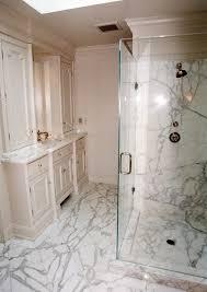 White Carrera Marble Bathroom - white carrera marble bathroom this bathroom in a beautiful