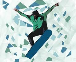 dance wall mural murals 101 abstract snowboarder sports mural