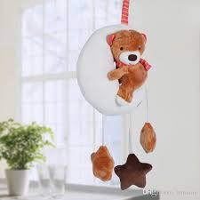 2017 moon bear baby stroller hanging rattle toys plush mobile