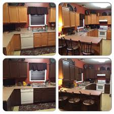 easy way to refinish kitchen cabinets general finishes georgian cherry gel stain project this is an