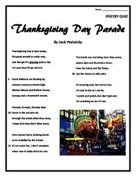 poetry quiz thanksgiving day parade choice
