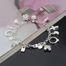 silver cross bracelet charm images Online shop hot sale silver charm bracelet for women silver cross jpg