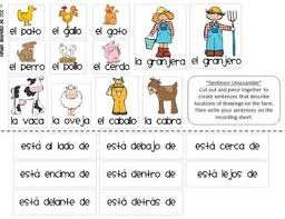 spanish prepositions of location thematic unit with farm