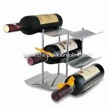 wholesale 6 bottle wine rack with pp board and powder coating buy