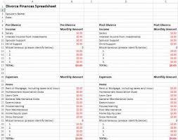 divorce finances spreadsheet lovetoknow
