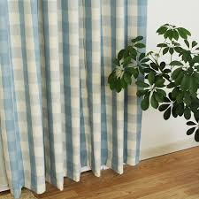 Blue Plaid Curtains Plaid Patterns Modern Blue Ready Made Curtains