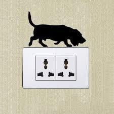 afghan hound harga basset font b hound b font dog cartoon fashion font b light b font switch sticker jpg