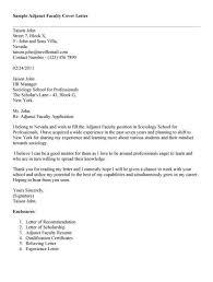 cover letter for adjunct teaching position cover letter for