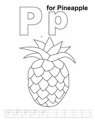 pineapple free alphabet coloring pages alphabet coloring pages