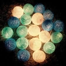 40 balls 2 sets 20 cotton ball lights for home decoration wedding