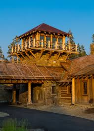 big sky log cabin floor plan love the fire lookout idea for the roof deck walkout rooftop