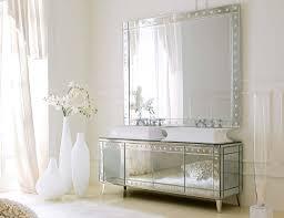 modern mirrored bathroom vanity for minimalist house decors