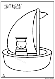 Magic Toy Boat Coloring Pages 01
