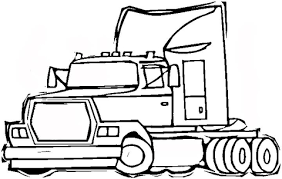 semi trailer truck coloring free printable coloring pages