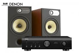 bowers wilkins 685 s2 bookshelf speaker and denon pma 520ae