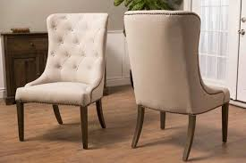 linen chair linen elouise dining chair with nailhead trim