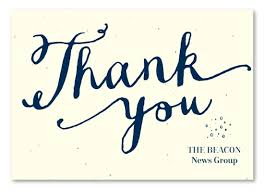 business thank you cards written business thank you cards on seeded paper heartfelt