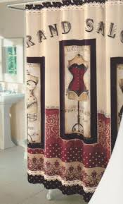 Dressed To Thrill Shower Curtain Grand Salon Fabric Bathroom Shower Curtain Paris Lingeries Fashion