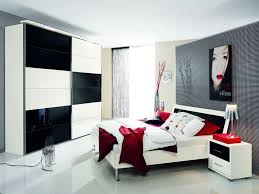 red big bed idea with modern lighting decor and entrancing