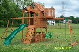 Swing Sets For Small Backyard by Playground Landscaping Ideas For Small Backyard Wood Fence