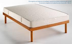 rete con materasso materasso rete a doghe legno guanciale kit letto singolo offerta