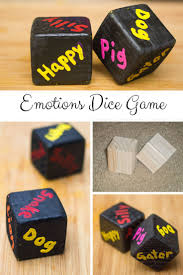 diy indoor games teach your child emotions with diy emotions dice child gaming