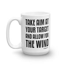 personal development mug take aim at your target and allow for