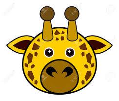 giraffe clipart face pencil and in color giraffe clipart face