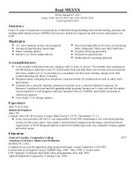 Resume For Tool And Die Maker Sample Cover Letter Tool And Die Maker Sample High Research