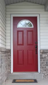 red front door diy kinda painting the town red