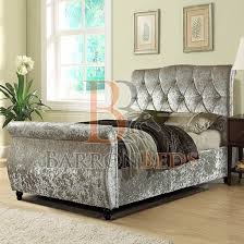 bedframe isobel swan sleigh bed frame with diamond tufted design