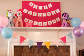 guest party my little pony fourth birthday party