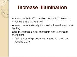 lighting for visually impaired adapting to visual impairment learning to see through visually impa