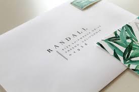 wedding envelopes botanical wedding invitations two