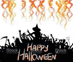 Halloween Vector Graphics Crazy Halloween Crowd Party Stock Vector Art 615523854 Istock