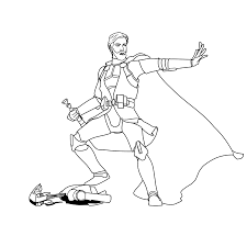 anakin obi wan coloring pages