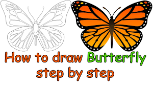 butterfly drawing easy how to draw a butterfly for easy
