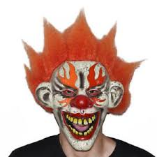Scary Clown Halloween Costumes Adults Creepy Evil Clown Mask Scary Halloween Costume Accessory
