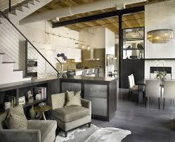 Open Seating Living Room Blooming Gray Floors Living Room Industrial With Open Floor Plan