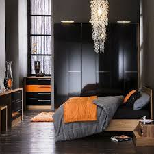 Black And Grey Bedroom Furniture by I Really Like The Gray Black Orange Combo Or Red Instead Of