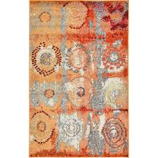 orange shag area rugs interior design